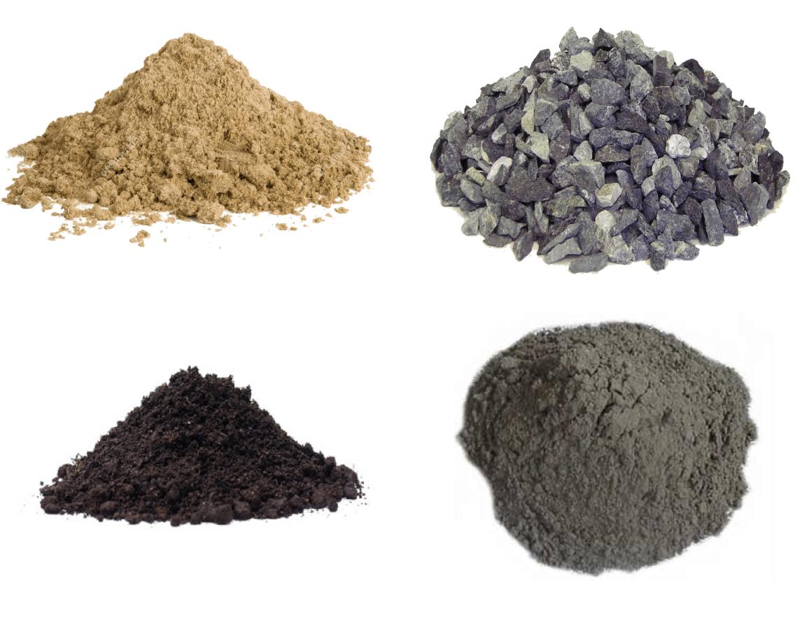 инертные материалы, керамзит, кварцевый песок для пескоструя